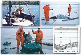 Snowmobile recovery with sonar