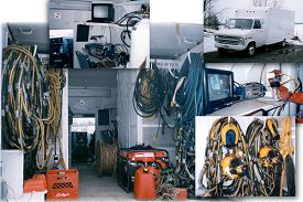 Dive van and video equipment